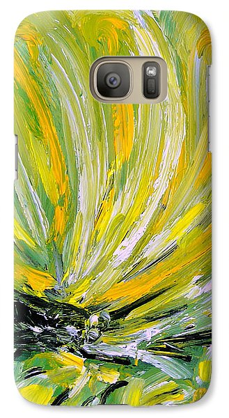 Galaxy Case featuring the painting Yellow Butterfly by Jasna Dragun
