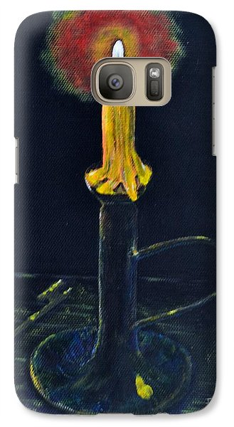 Galaxy Case featuring the painting Yellow Candle by Melvin Turner