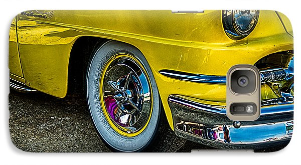 Galaxy Case featuring the photograph Yellow Car by Jay Stockhaus