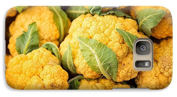 Yellow Cauliflower Galaxy Case by Rebecca Cozart