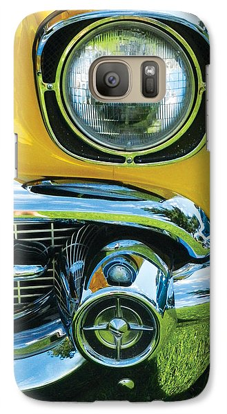 Galaxy Case featuring the painting Yellow Chevy by Val Miller