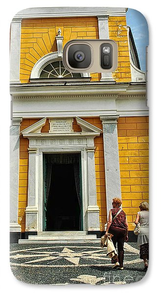 Galaxy Case featuring the photograph Yellow Church by Allen Beatty