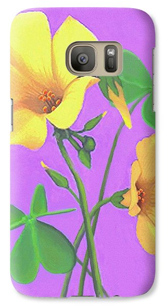 Galaxy Case featuring the painting Yellow Clover Flowers by Sophia Schmierer