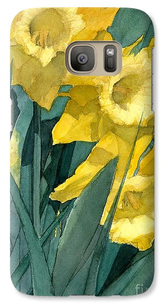Galaxy Case featuring the painting Yellow Daffodils by Greta Corens