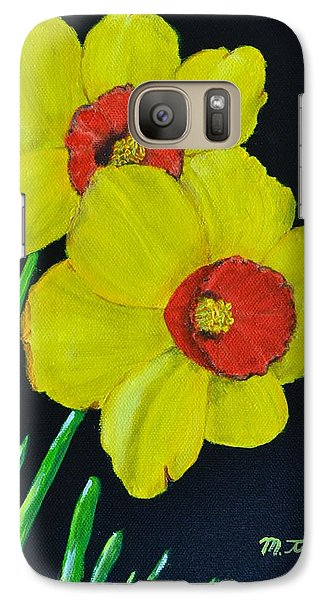 Galaxy Case featuring the painting Yellow Daffodils by Melvin Turner