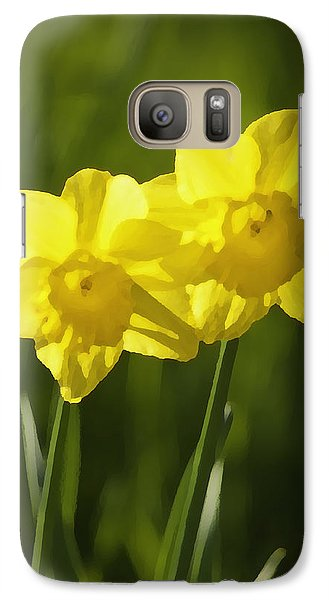 Galaxy Case featuring the photograph Yellow Daffodils by Sherri Meyer
