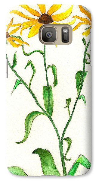 Galaxy Case featuring the painting Yellow Daisies by Nan Wright