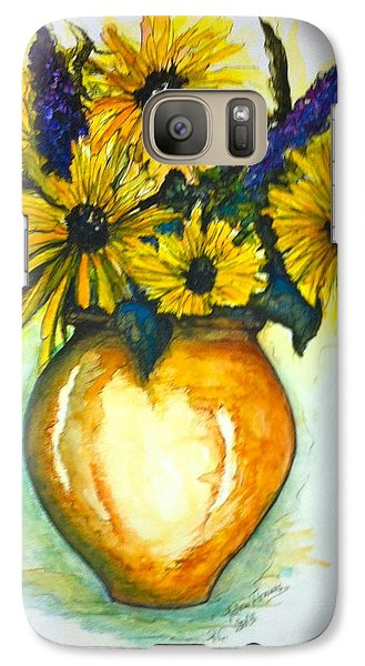 Galaxy Case featuring the painting Yellow Daisies by Rae Chichilnitsky