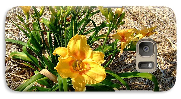 Galaxy Case featuring the photograph Yellow Daylily by Deborah DeLaBarre