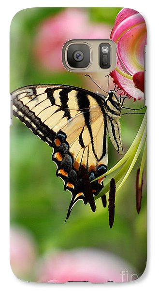Galaxy Case featuring the photograph Yellow Eastern Swallowtail Butterfly by Eva Kaufman