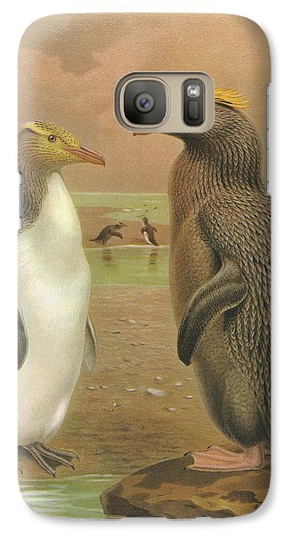 Yellow Eyed Penguin And Snares Crested Penguin  Galaxy S7 Case by Rob Dreyer