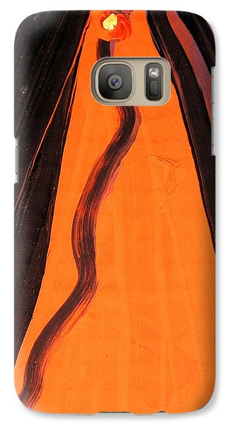 Galaxy Case featuring the painting Yellow Eyed Serpent by Mary Carol Williams