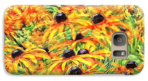 Galaxy Case featuring the photograph Dancing Susans by Geraldine DeBoer