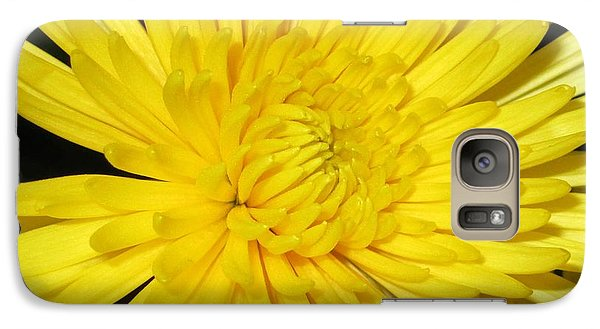 Galaxy Case featuring the photograph Yellow Flower Closeup by Barbara Yearty