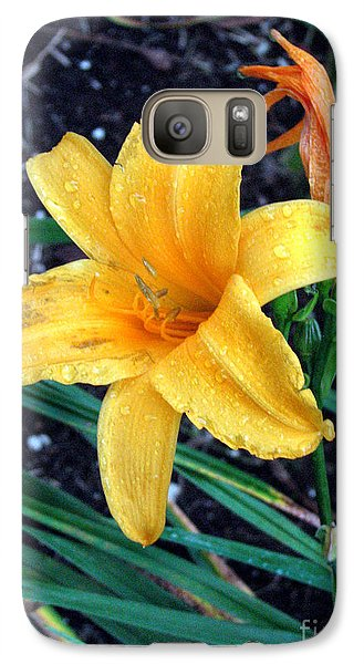 Galaxy Case featuring the photograph Yellow Flower by Sergey Lukashin