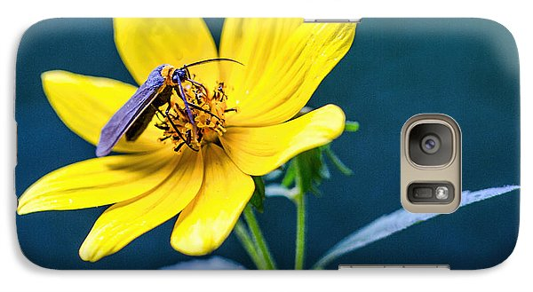 Galaxy Case featuring the photograph Yellow Flower With Company by Susi Stroud