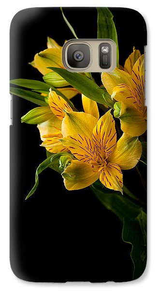 Galaxy Case featuring the photograph Yellow Flowers by Sennie Pierson