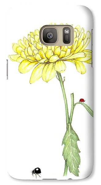 Galaxy Case featuring the painting Yellow Fun by Heidi Kriel