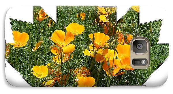 Galaxy Case featuring the photograph Yellow Garden Flowers by Jeanette Oberholtzer
