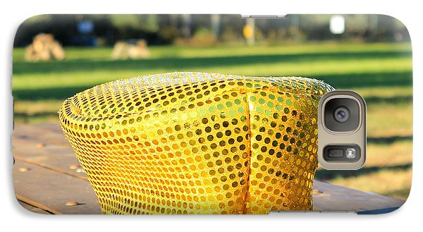 Galaxy Case featuring the photograph Yellow Hat by Lorna Maza