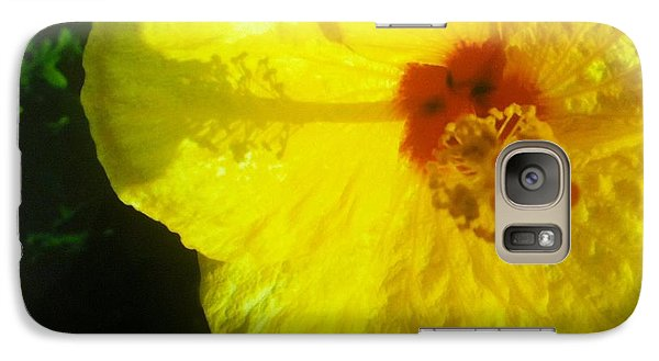 Galaxy Case featuring the photograph Yellow Hibiscus by Alohi Fujimoto