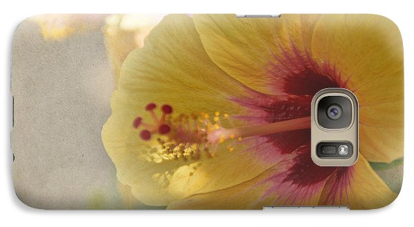 Yellow Hibiscus Galaxy S7 Case by Peggy Hughes