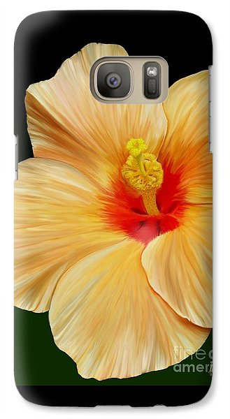 Galaxy Case featuring the painting Yellow Hibiscus by Rand Herron