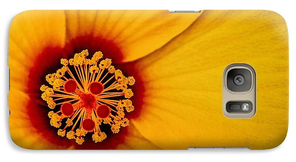 Galaxy Case featuring the photograph Yellow Hibuscus Too Squared by TK Goforth