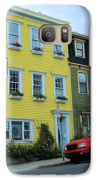 Galaxy Case featuring the photograph Yellow House Red Truck by Douglas Pike