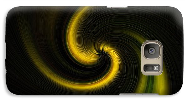 Galaxy Case featuring the digital art Yellow Into Black by Trena Mara