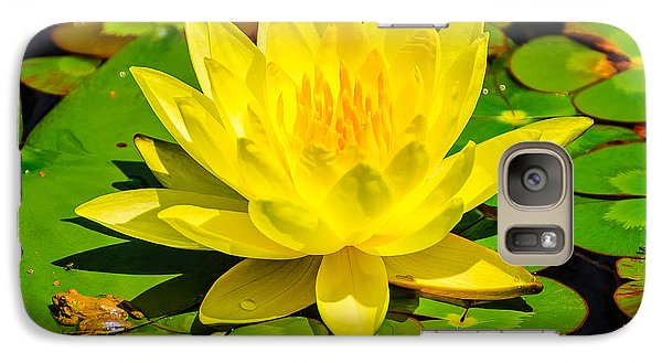 Galaxy Case featuring the photograph Yellow Lily by John Johnson