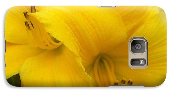 Galaxy Case featuring the photograph Yellow Lily by Saribelle Rodriguez