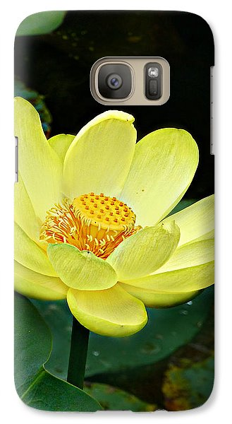 Galaxy Case featuring the photograph Yellow Lotus by William Tanneberger