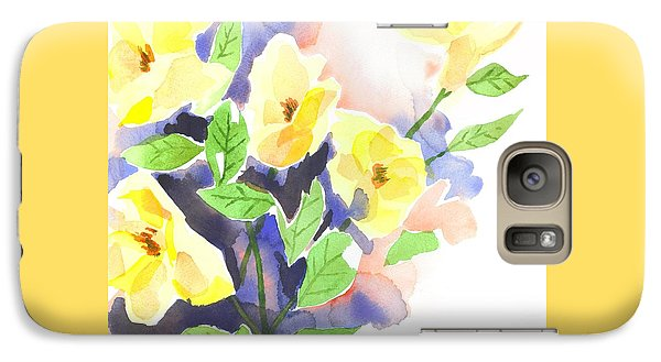 Galaxy Case featuring the painting Yellow Magnolias by Kip DeVore