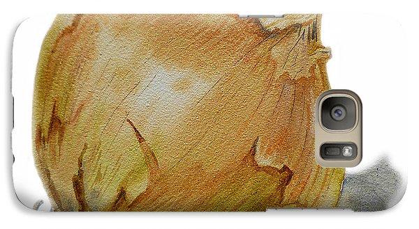 Yellow Onion Galaxy S7 Case by Irina Sztukowski