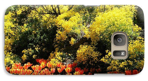 Galaxy Case featuring the photograph Yellow Orange - Springtime by Phil Banks