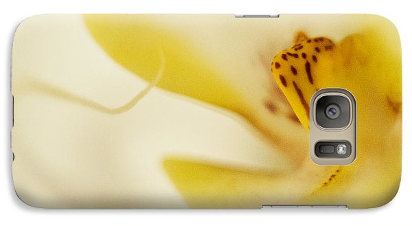 Galaxy Case featuring the photograph Yellow Orchid by Bradley R Youngberg
