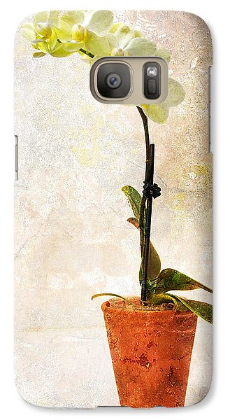 Galaxy Case featuring the photograph Yellow Orchid by Patti Deters