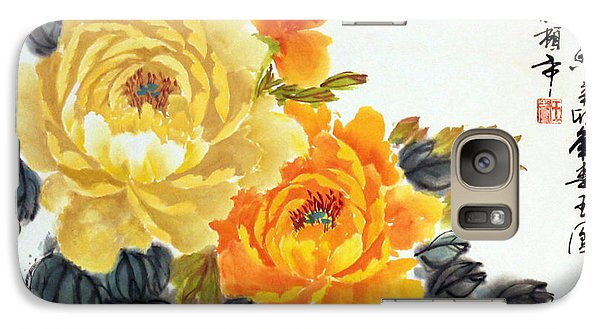 Galaxy Case featuring the photograph Yellow Peonies by Yufeng Wang