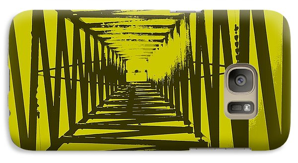 Galaxy Case featuring the photograph Yellow Perspective by Clare Bevan