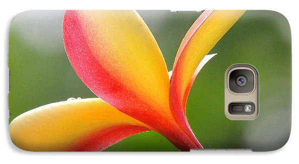 Galaxy Case featuring the photograph Yellow Pink Plumeria by Kristine Merc