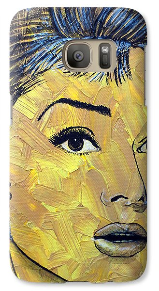 Galaxy Case featuring the painting Yellow Pop Audrey by Malinda Prudhomme