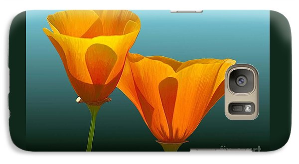 Galaxy Case featuring the painting Yellow Poppies by Rand Herron