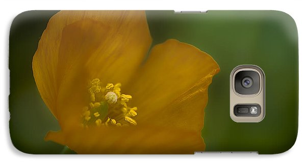 Galaxy Case featuring the photograph Yellow Poppy by Jacqui Boonstra