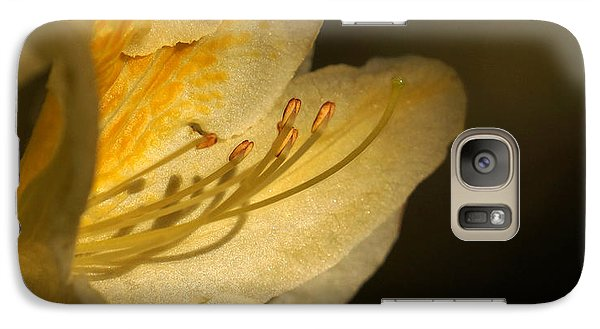 Galaxy Case featuring the photograph Yellow Rhododendron by Inge Riis McDonald