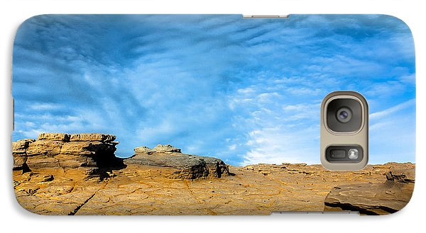 Galaxy Case featuring the photograph Yellow Rock by Edgar Laureano