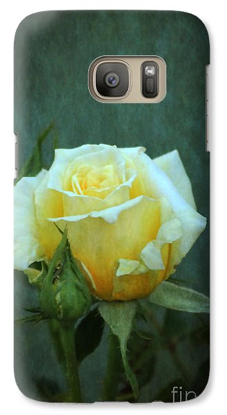 Galaxy Case featuring the photograph Yellow Rose 2014 by Marjorie Imbeau