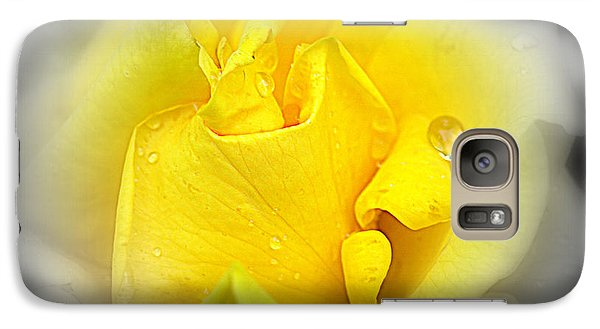 Galaxy Case featuring the photograph Yellow Rose by Karen Kersey