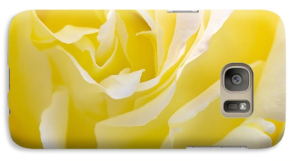 Rose Galaxy S7 Case - Yellow Rose by Svetlana Sewell