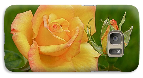 Galaxy Case featuring the photograph Yellow Rose With Bud by Debby Pueschel